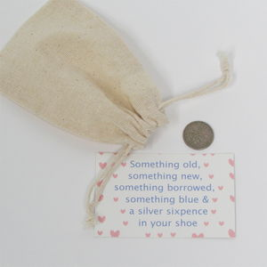 Bride To Be Lucky Sixpence Gift Bag - tokens & keep sakes