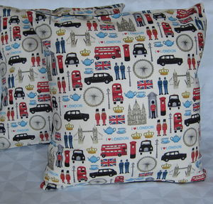London Cushion Cover - patterned cushions