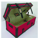 Vintage Style Storage Trunk Red/Black