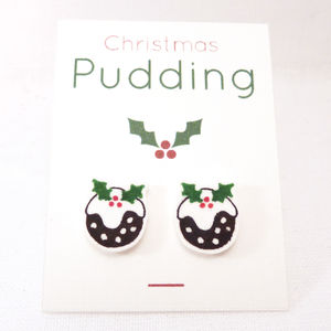 Christmas Pudding Stud Earrings
