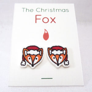 Christmas Fox Stud Earrings