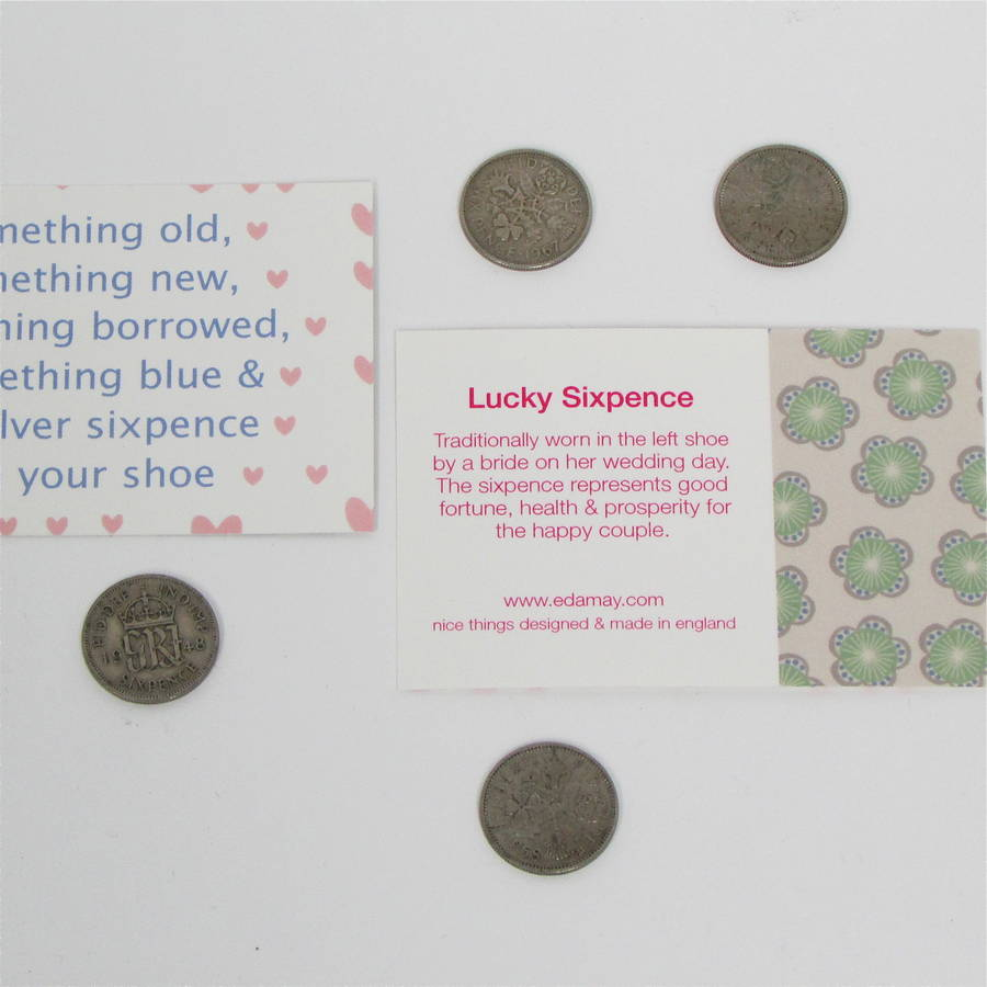 Bride To Be Lucky Sixpence Gift Bag By Edamay Notonthehighstreet
