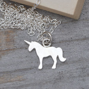 Unicorn Necklace In Sterling Silver - more