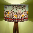 'The Alps' Geometric Designer Drum Lampshade
