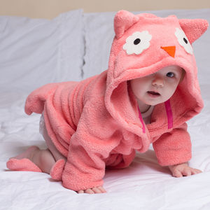 Baby Owl Bathrobe