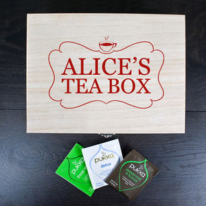 Personalised Tea Keepsake Box - boxes, trunks & crates