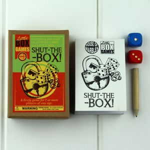 Little Box Game Shut The Box - traditional toys & games