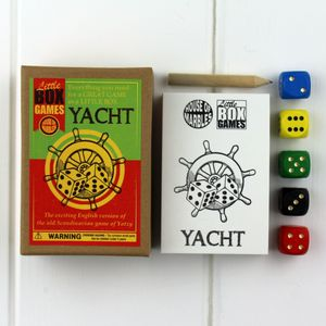 Little Box Game Yacht - traditional toys & games