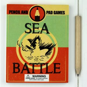 Pad And Pencil Sea Battle Game