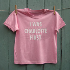 'I Was Charlotte First' T Shirt - t-shirts & tops