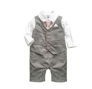 Baby Boy's All In One 1pc Outfit With Tie