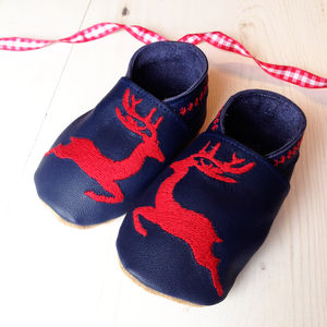 Personalised Reindeer Baby Shoes - children's christmas clothing