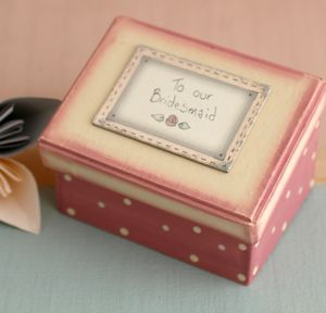 'To Our Bridesmaid' Box - ribbon & wrap