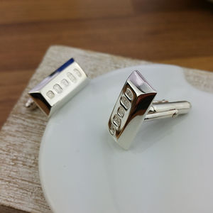 Silver Ingot Cufflinks - distinctive dad jewellery