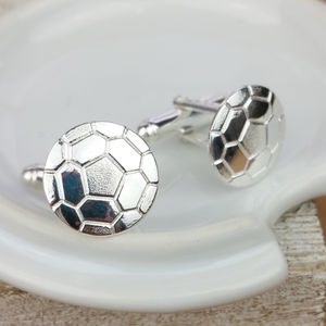 Sterling Silver Football Cufflinks - women's jewellery