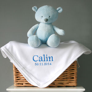 Personalised Cotton Baby's Blanket