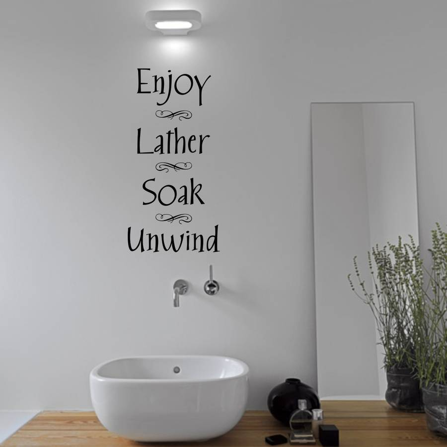 Bathroom wall sticker by mirrorin notonthehighstreetcom for Wall art stickers for bathrooms