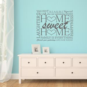Home Word Cloud Wall Sticker
