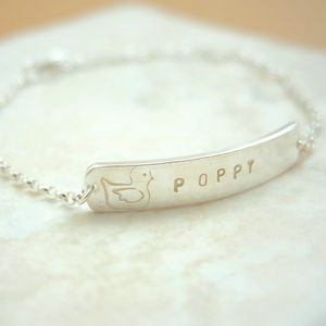 Personalised New Baby Christening Silver Bracelet - wedding fashion