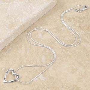 Personalised Heart Outline Pendant Necklace - women's jewellery