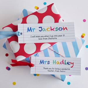 Brilliant Teacher Tag And Wrapping Paper - gifts for teachers