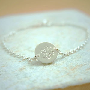 Daisy Chain Silver Bracelet - flower girl jewellery