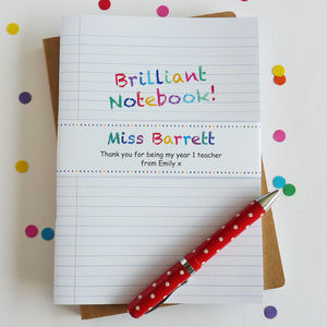 Brilliant Teacher Notebook - personalised