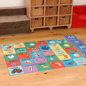 Child's Welsh Alphabet Floor Rug