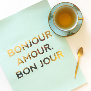 Bonjour Amour, Bon Jour Poster - shop by category