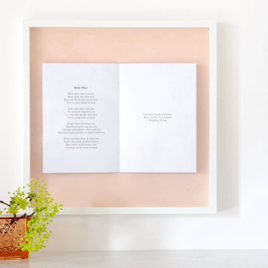 Wedding Vows Personalised Framed Book By Sarah Bendrix Notonthehighst