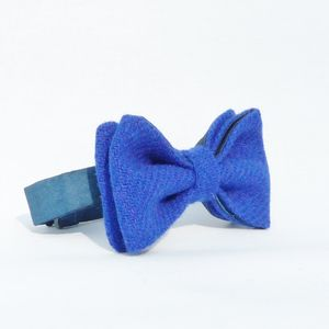Harris Tweed And Silk Bow Tie