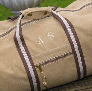 Personalised Vintage Canvas Holdall - accessories
