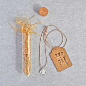 'On This Date' Silver Necklace In A Bottle - necklaces & pendants