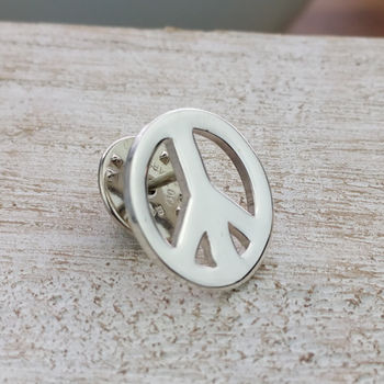 Silver Campaign For Nuclear Disarmament Peace Lapel Pin