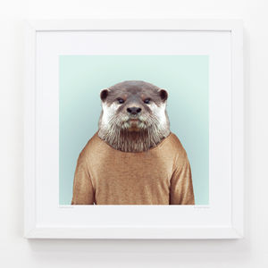 Otter Art Print - animals & wildlife