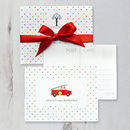 Personalised Postcards With Coloured Polka Dots