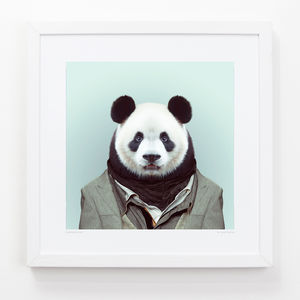 Panda Art Print - posters & prints for children