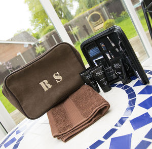 Personalised Mens Wash Bag Kit - bathroom