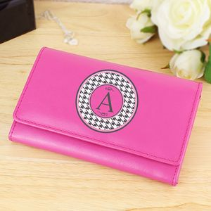 Personalised Initial Leather Purse - women's accessories
