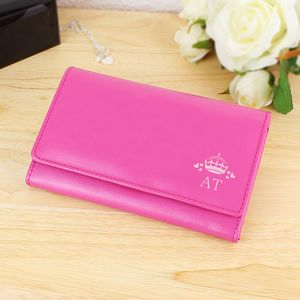 Initials Pink Personalised Leather Purse