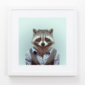 Raccoon Art Print - contemporary art