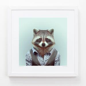 Raccoon Art Print - contemporary art