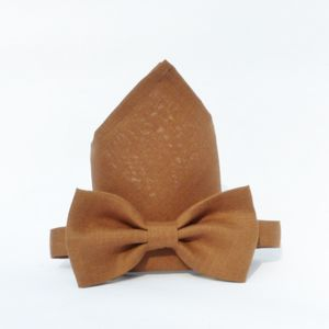 Irish Linen Bow Tie And Pocket Square - ties & tie clips