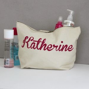 Personalised Wash Bag - bathroom