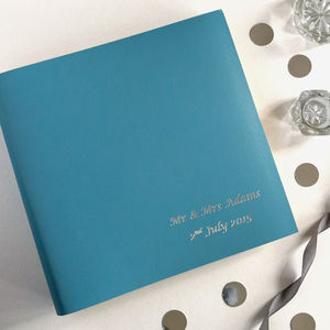Traditionally Bound Bespoke Leather Photo Album - personalised