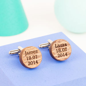 Personalised Wooden Cufflinks - view all father's day gifts