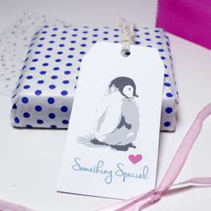 'Something Special' Penguin Gift Tag - cards & wrap