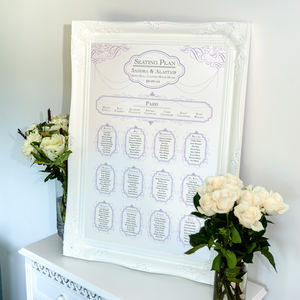 Vintage Affair Table Plan - wedding stationery