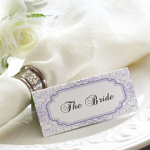 Vintage Affair Place Cards