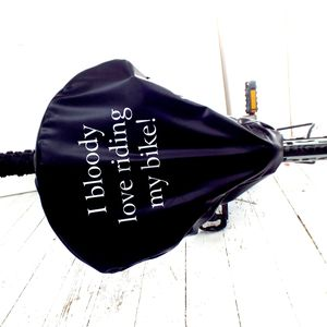 'I Bloody Love ' Bike Seat Rain Cover - best gifts for dads